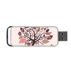 Tree Butterfly Insect Leaf Pink Portable Usb Flash (two Sides) by Alisyart