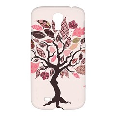 Tree Butterfly Insect Leaf Pink Samsung Galaxy S4 I9500/i9505 Hardshell Case by Alisyart