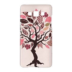 Tree Butterfly Insect Leaf Pink Samsung Galaxy A5 Hardshell Case  by Alisyart