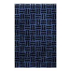 Woven1 Black Marble & Blue Stone (r) Shower Curtain 48  X 72  (small) by trendistuff