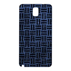 Woven1 Black Marble & Blue Stone (r) Samsung Galaxy Note 3 N9005 Hardshell Back Case by trendistuff