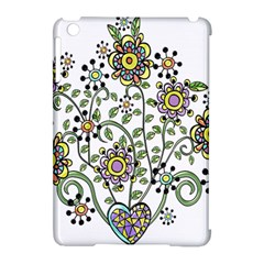 Frame Flower Floral Sun Purple Yellow Green Apple Ipad Mini Hardshell Case (compatible With Smart Cover) by Alisyart