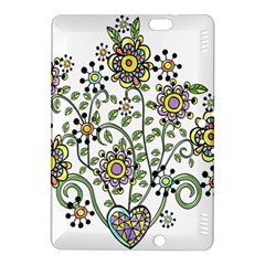 Frame Flower Floral Sun Purple Yellow Green Kindle Fire Hdx 8 9  Hardshell Case by Alisyart