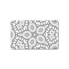 Scope Random Black White Magnet (name Card) by Alisyart