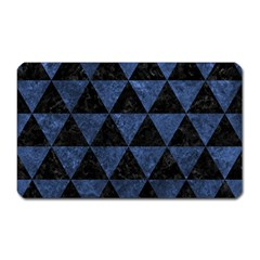 Triangle3 Black Marble & Blue Stone Magnet (rectangular) by trendistuff