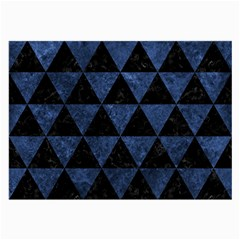 Triangle3 Black Marble & Blue Stone Large Glasses Cloth by trendistuff