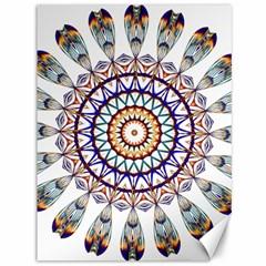 Circle Star Rainbow Color Blue Gold Prismatic Mandala Line Art Canvas 36  X 48   by Alisyart