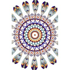 Circle Star Rainbow Color Blue Gold Prismatic Mandala Line Art 5 5  X 8 5  Notebooks by Alisyart