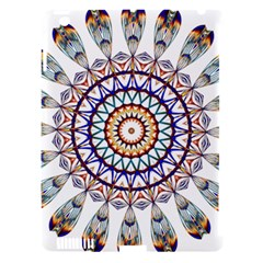 Circle Star Rainbow Color Blue Gold Prismatic Mandala Line Art Apple Ipad 3/4 Hardshell Case (compatible With Smart Cover) by Alisyart
