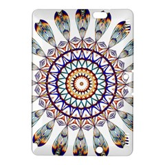Circle Star Rainbow Color Blue Gold Prismatic Mandala Line Art Kindle Fire Hdx 8 9  Hardshell Case by Alisyart