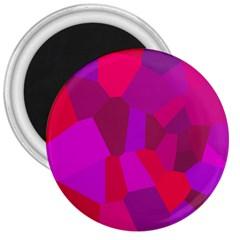Voronoi Pink Purple 3  Magnets by Alisyart