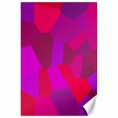 Voronoi Pink Purple Canvas 24  X 36  by Alisyart