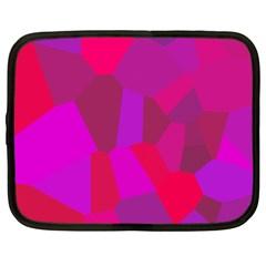 Voronoi Pink Purple Netbook Case (xxl)  by Alisyart