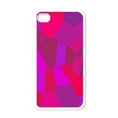 Voronoi Pink Purple Apple Iphone 4 Case (white) by Alisyart
