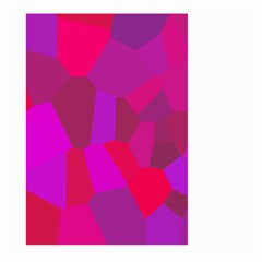 Voronoi Pink Purple Large Garden Flag (two Sides) by Alisyart