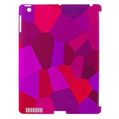 Voronoi Pink Purple Apple Ipad 3/4 Hardshell Case (compatible With Smart Cover) by Alisyart