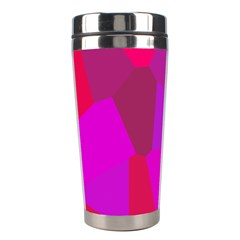 Voronoi Pink Purple Stainless Steel Travel Tumblers by Alisyart
