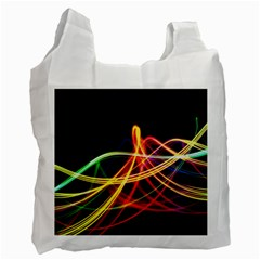 Vortex Rainbow Twisting Light Blurs Green Orange Green Pink Purple Recycle Bag (two Side)  by Alisyart