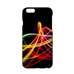 Vortex Rainbow Twisting Light Blurs Green Orange Green Pink Purple Apple Iphone 6/6s Hardshell Case by Alisyart
