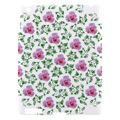 Rose Flower Pink Leaf Green Apple Ipad 3/4 Hardshell Case by Alisyart