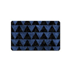 Triangle2 Black Marble & Blue Stone Magnet (name Card) by trendistuff