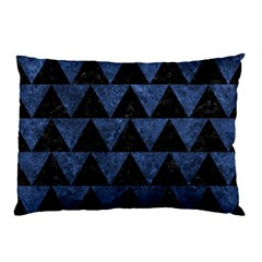 Triangle2 Black Marble & Blue Stone Pillow Case by trendistuff
