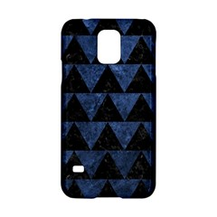Triangle2 Black Marble & Blue Stone Samsung Galaxy S5 Hardshell Case  by trendistuff