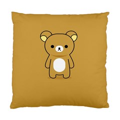 Bear Minimalist Animals Brown White Smile Face Standard Cushion Case (one Side) by Alisyart