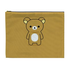Bear Minimalist Animals Brown White Smile Face Cosmetic Bag (xl) by Alisyart