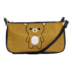 Bear Minimalist Animals Brown White Smile Face Shoulder Clutch Bags by Alisyart