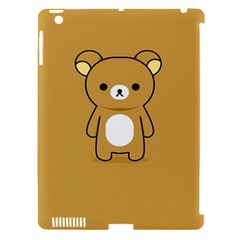 Bear Minimalist Animals Brown White Smile Face Apple Ipad 3/4 Hardshell Case (compatible With Smart Cover) by Alisyart