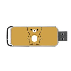 Bear Minimalist Animals Brown White Smile Face Portable Usb Flash (two Sides) by Alisyart