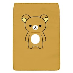 Bear Minimalist Animals Brown White Smile Face Flap Covers (s)  by Alisyart