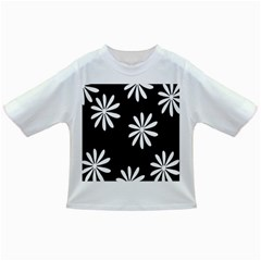 Black White Giant Flower Floral Infant/toddler T Shirts by Alisyart