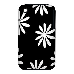 Black White Giant Flower Floral Iphone 3s/3gs