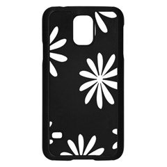 Black White Giant Flower Floral Samsung Galaxy S5 Case (black) by Alisyart