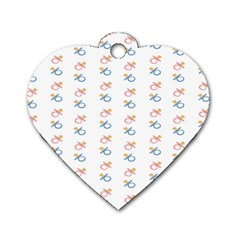 Baby Pacifier Pink Blue Brown Kids Dog Tag Heart (two Sides) by Alisyart