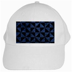Triangle1 Black Marble & Blue Stone White Cap by trendistuff