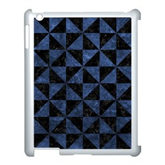 Triangle1 Black Marble & Blue Stone Apple Ipad 3/4 Case (white) by trendistuff