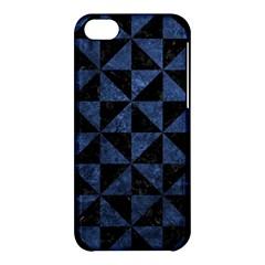 Triangle1 Black Marble & Blue Stone Apple Iphone 5c Hardshell Case by trendistuff