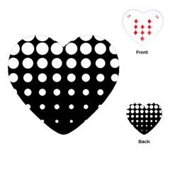 Circle Masks White Black Playing Cards (heart)  by Alisyart