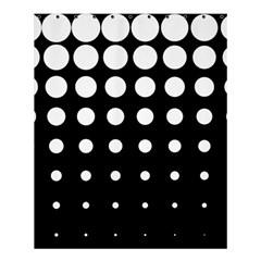 Circle Masks White Black Shower Curtain 60  X 72  (medium)  by Alisyart