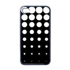 Circle Masks White Black Apple Iphone 4 Case (black) by Alisyart