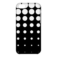 Circle Masks White Black Apple Iphone 5c Hardshell Case by Alisyart