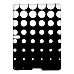 Circle Masks White Black Samsung Galaxy Tab S (10 5 ) Hardshell Case  by Alisyart