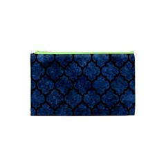 Tile1 Black Marble & Blue Stone (r) Cosmetic Bag (xs) by trendistuff
