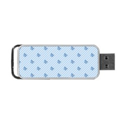 Blue Butterfly Line Animals Fly Portable Usb Flash (one Side) by Alisyart