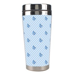 Blue Butterfly Line Animals Fly Stainless Steel Travel Tumblers by Alisyart