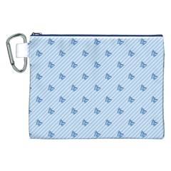 Blue Butterfly Line Animals Fly Canvas Cosmetic Bag (xxl) by Alisyart