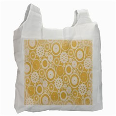 Wheels Star Gold Circle Yellow Recycle Bag (one Side) by Alisyart